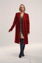 Длинное прямое пальто  из шерсти - 4