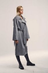 Удлиненное прямое пальто  из шерсти - 3