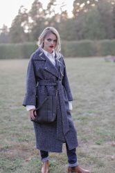 Длинное прямое пальто  из шерсти - 0
