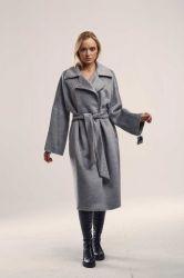 Удлиненное прямое пальто  из шерсти - 0