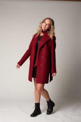 Классическое прямое пальто  из шерсти - 0