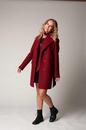 Классическое прямое пальто  из шерсти